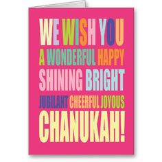 Chanukah/Hannukah Greeting Cards. Could easily replace Chanukah with birthday