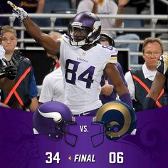 Cordarrelle Patterson scores on game 1 of the 2014 NFL season