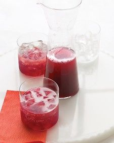 Pomegranate champagne punch. Perfect for late fall and winter!
