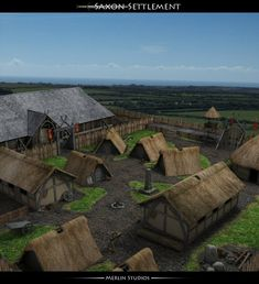 Here's another render of my Saxon Settlement, this time of the outside...