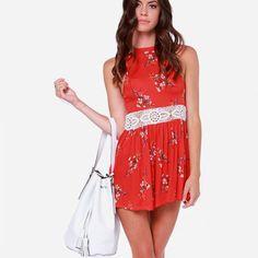 Minkpink red romper Never worn.                               d MINKPINK Dresses