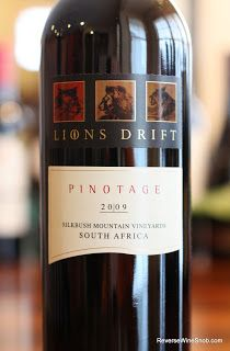 Lions Drift Pinotage 2009 - An Acquired Taste No More. A serious wine built to age. $13 #winelover http://www.reversewinesnob.com/2013/04/lions-drift-pinotage.html