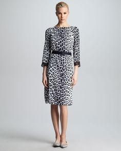 Marc Jacobs Belted Leopard-Print Dress