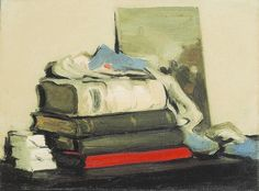 S J Peploe | Still Life with Books