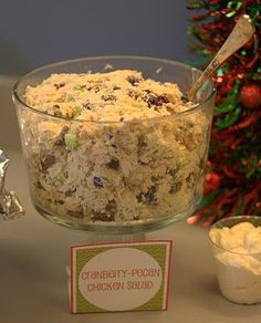 Holidays & Events - Have Yourself a Merry Little Christmas - Cranberry pecan chicken salad - fabulous!