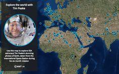 Mapa interactivo de la Tierra vista desde la Estación Espacial Internacional.