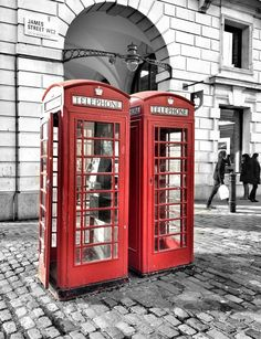 British phone boxes by Andy Nicolaides