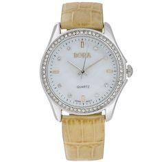 Часы наручные женские Bora, цвет: бежевый, серебряный. FWL019L / T-B-8532-WATCH-SL.BEIGE