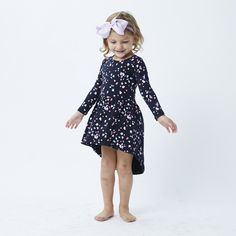 Milky french navy dress with colour confetti spot pattern covered over the dress. Dress up or dress down, perfect for any occasion. Navy Dress, Dress Skirt, Dress Up, Tutus For Girls, Dress For You, Confetti, Little Girls, French, Skirts