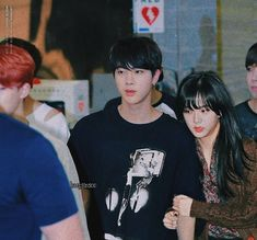 - jinsoo jin jisoo | blackbangtan bts blackpink Bts Jin, Bts Taehyung, Jimin, Taekook, Seokjin, Namjoon, Bts Girlfriends, Bts Twice, Miraculous Ladybug Memes