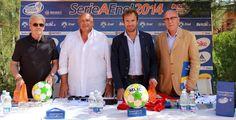 Mister Gigi Simoni e l'ex schermidore Salvatore Sanzo alla Conferenza stampa di presentazione della tappa di Marina di Pisa
