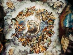 The Chamber of Giants fresco, Palazzo Te, Mantua, by Giulio Romano Cool Art, Awesome Art, Fresco, Fashion Art, Weird, Artsy, Scene, Art Prints, Palazzo