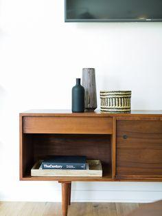 Scandi modern with vintage mid century modern credenza  |  Madison Modern Home
