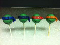 Teenage mutant Ninja Turtles! Cake pops!!