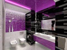 baño color negro violeta