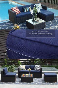 Printed Cushions, Wicker Patio Furniture, Furniture Sets, Sectional Sofa, Outdoor Sectional, Garden Sofa Set, Free Frames, Single Sofa