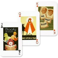 Library Lovers Playing Cards