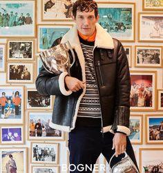 Down Ski Jacket, Black Ski Jacket, Mens Fashion Week, Men's Fashion, Shearling Jacket, Leather Jacket, Roy Black, Sheepskin Coat, Ski Wear