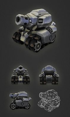 Low Poly Micro Tank by bitgem on deviantART