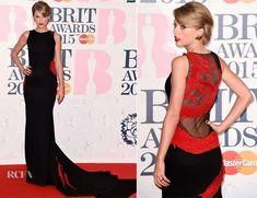 Taylor Swift In Roberto Cavalli Atelier - 2015 BRIT Awards