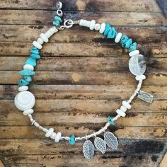 #Repost @eden_azure  New Summer Anklet  $35  with hilltribe silver leaves;charms; beads with mixed bonehowlite; turquoise shell beads  ONE ONLY something unique 25 cm  If you like to purchase please comment SOLD and email address #ankletseason#feetjewels#islandgirl#islandvibe#turquoise#silverbeads#silverleaf#hilltribesilver  #bohochic#shells#charms#turquoise  #turquoisebeads#beach#beachbabe