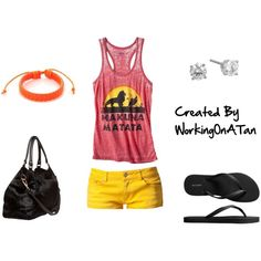 Hakuna Matata | Lion King. Love love love this outfit! But with vans or converse!!!