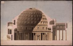 Section drawing of the Pantheon, 1778, drawn by Sir John Soane