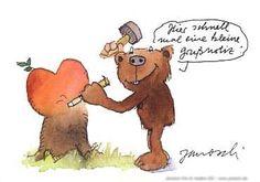 Hier schnell mal eine kleine Grussnotiz. #Herz, #Notiz, #Postkarte, #Janosch