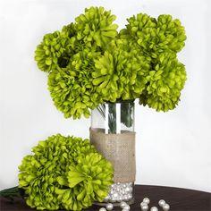 56 Chrysanthemum Mum Balls - Sage Green   eFavorMart