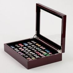 Cufflinks Box in Mahogany for 36 pairs: Cuff-Daddy I'm going to need this eventually!