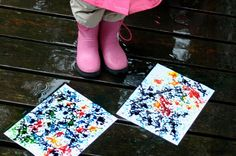 Fun project for Clara in a year or two (rain painting).