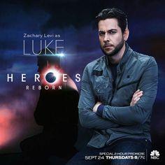 Heroes Reborn - Zachary levi as Luke #heroesreborn #lukecollins #zacharylevi