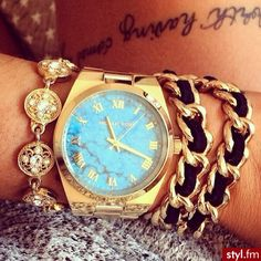 6f4f2553caf MK Teal  lt 3 I really need this in my life Michael Kors Watch