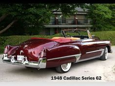 1948 Cadillac Series 62 Convertible,usually not a fan of convertibles but! Man o man this is a beauty! Cadillac Ats, Cadillac Series 62, Cadillac Eldorado, Retro Cars, Vintage Cars, Antique Cars, Toyota Prius, Buick, Bmw I8