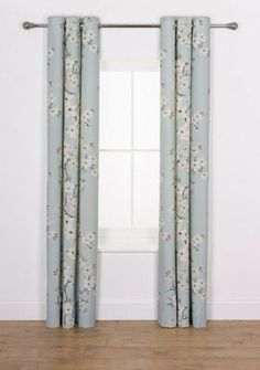 Blossom Curtains - 168x228cm - Duck Egg Argos.co.uk