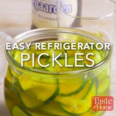 Easy Refrigerator Pickles Recipe