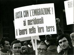 Protest aganist migrants from South Italy