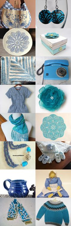 Make Mine Blue Gifts for Christmas in July by Karen Anderson on Etsy--Pinned with TreasuryPin.com