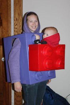 Mama/baby Halloween costume: Legos