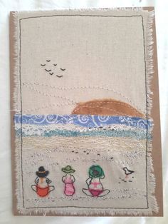 This, that and everything inbetween: Busy busy Freehand Machine Embroidery, Free Motion Embroidery, Free Machine Embroidery, Free Motion Quilting, Embroidery Applique, Embroidery Ideas, Fabric Postcards, Fabric Cards, Quilting Projects