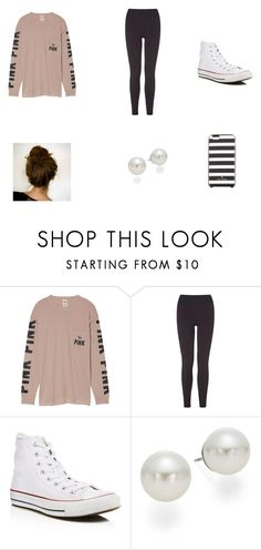 """""""Lazy girl #uno"""" by theaussielover ❤ liked on Polyvore featuring Victoria's Secret, L.K.Bennett, Converse, AK Anne Klein and Kate Spade"""