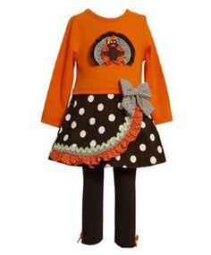 Girl's outfit idea for #Thanksgiving