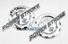 2 NEW CHROME FORD CUSTOM 7.3L F250 F350 POWERSTROKE INTERNATIONAL BADGES EMBLEMS in eBay Motors, Parts & Accessories, Car & Truck Parts | eBay