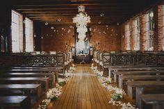 indoor ceremony - photo by Sloan Photographers - http://ruffledblog.com/glam-carondelet-house-wedding/