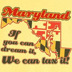 State Pride Maryland Funny Novelty T Shirt Z11752 by RogueAttire, $18.99