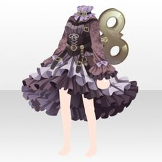 Clockwork City Cat Clockwork Dress Style ver.A purple Steampunk Cat, Cat City, Cocoppa Play, Character Outfits, Anime Outfits, Fairy Tales, Wonderland, Purple, Cats