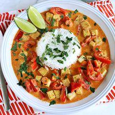 Diese rote Curry-Tofu Rezept ist zu gleichen Teilen lecker und gesund.