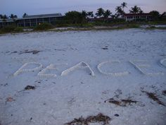 on the beach this morning in Sanibel