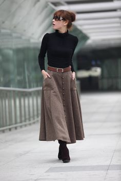 There She Sews!: Back to Regular Sewing: Wool Riding Skirt