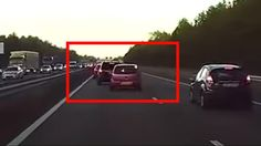 Dashcam footage shows the dramatic moment Tesla Autopilot appears to predict a crash.
